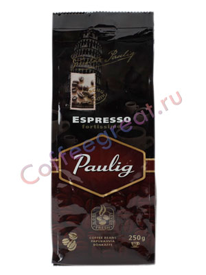 Кофе Paulig Espresso Fortissimo в зернах 250 г